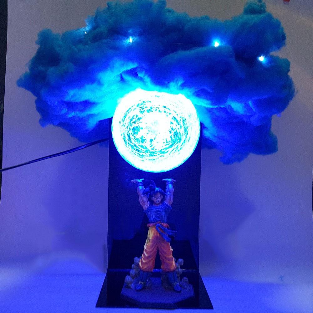 Nouveau Dragon Ball Z Figure fils Goku Genki damaSpirit bombe nuage bricolage lumière LED ensemble Dragon Ball Super Goku PVC Figure modèle jouet goutte
