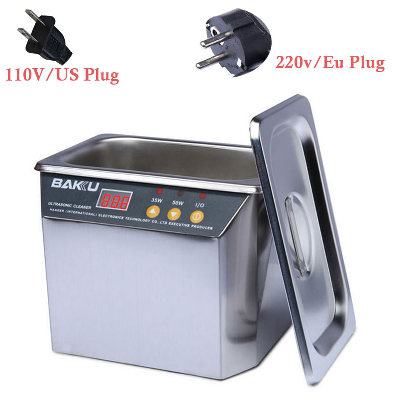 110/220V Ultrasonic Cleaner Stainless Steel ultrasonic cleaner Communications Equipment Newest High quality Ultrasonic Cleaners professional mini ultrasonic cleaner 220v