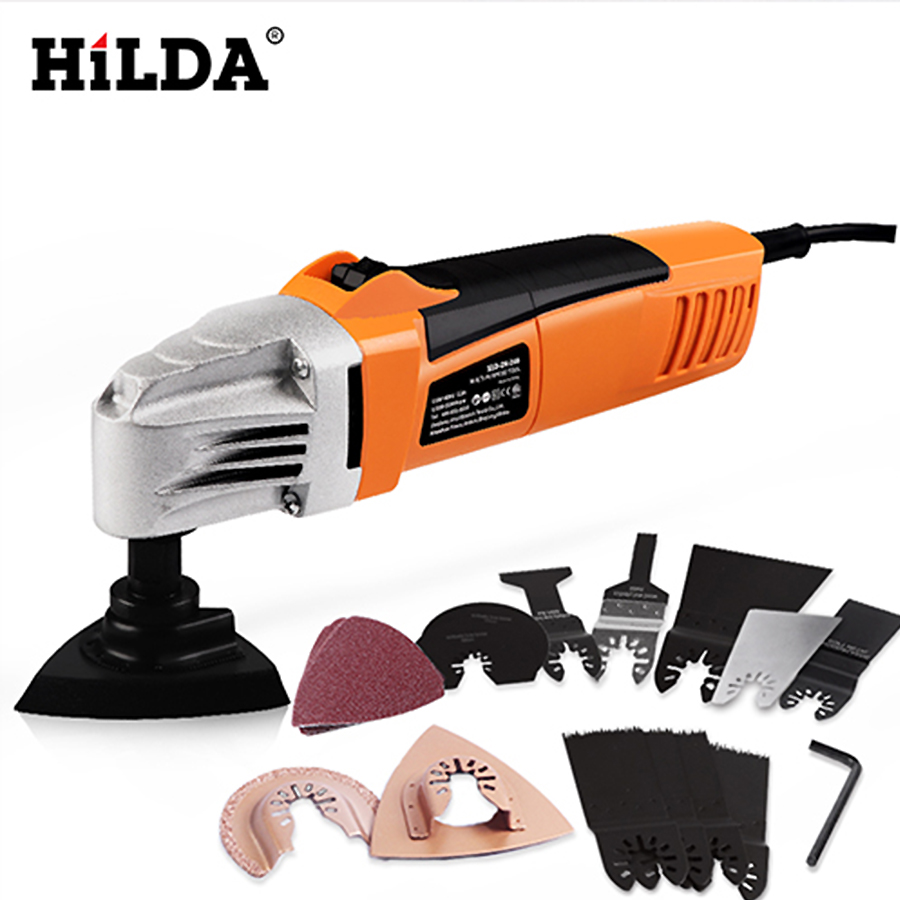 HILDA Rénovateur Multi Outils Électrique Multifonction Oscillant Outil Kit Multi-Power Tool Outil tondeuse électrique Vu Accessoires