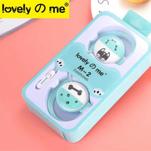 Cute Dog Cartoon Stereo Earphone Headphone with Mic 3.5mm Ear-hook Sports Headset for Xiaomi for Mobile Phone Mp3 Gifts Tablet
