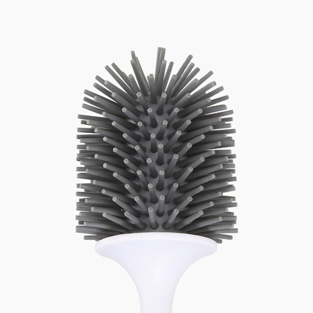Toilet Brush Rubber Head Holder Cleaning Brush For Toilet Wall Hanging Household Floor Cleaning Bathroom Accessories Home Decor & Toys