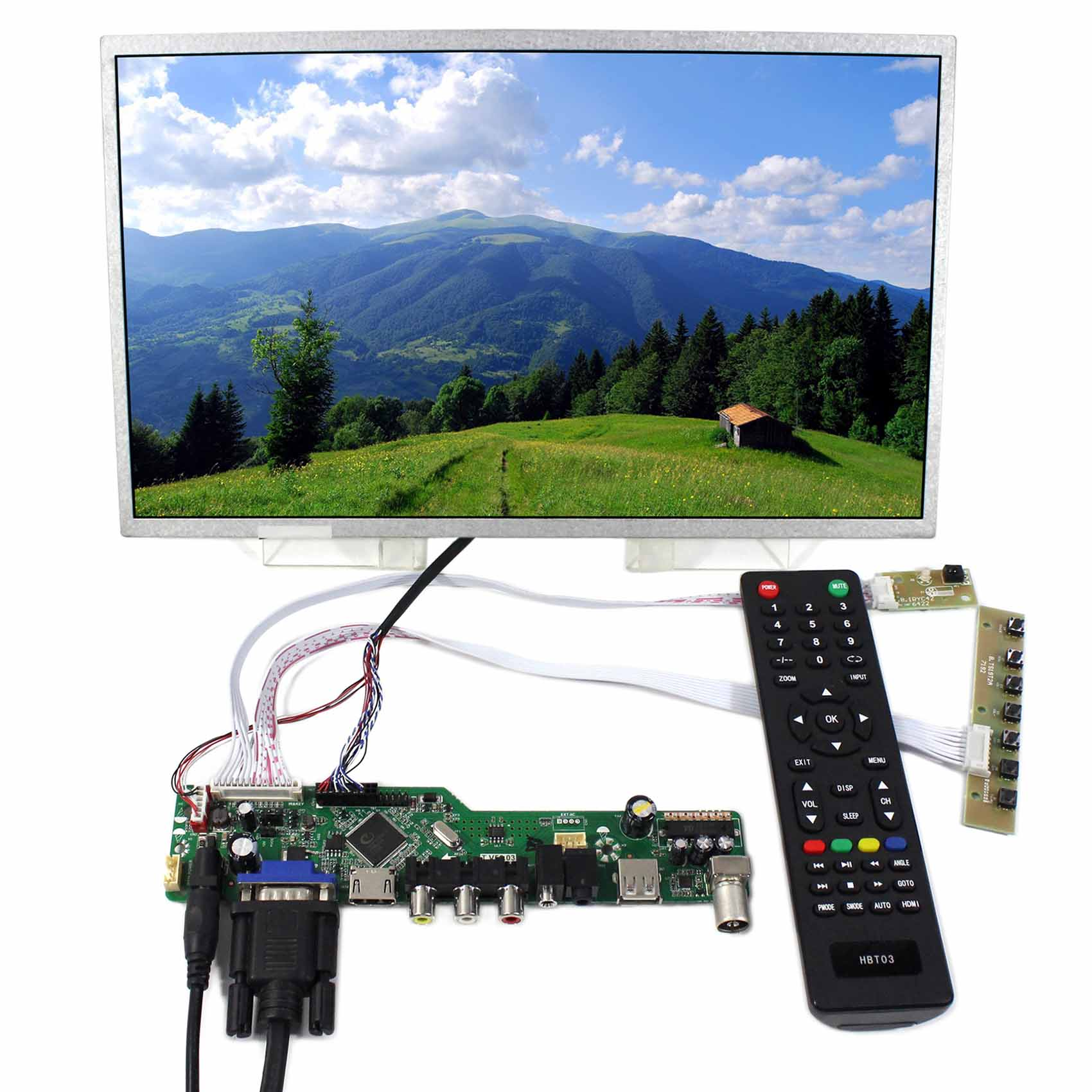 TV HDMI VGA AV USB AUDIO LCD Controller Board 13.3inch N133B6 1366x768 LCD Screen t v56 03 vga hdmi av audio usb tv lcd controller board for b154pw01 b154pw02 1440x900 ccfl lvds lcd ad board raspberry pi