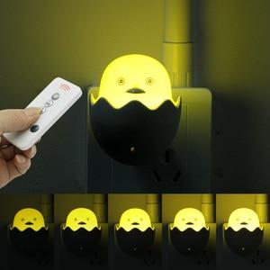 Image 4 - ANBLUB Lámpara LED de pato amarillo con Sensor de Control de luz nocturna, lámpara de pared con Control remoto para el hogar, dormitorio, niños, regalo, enchufe de la UE