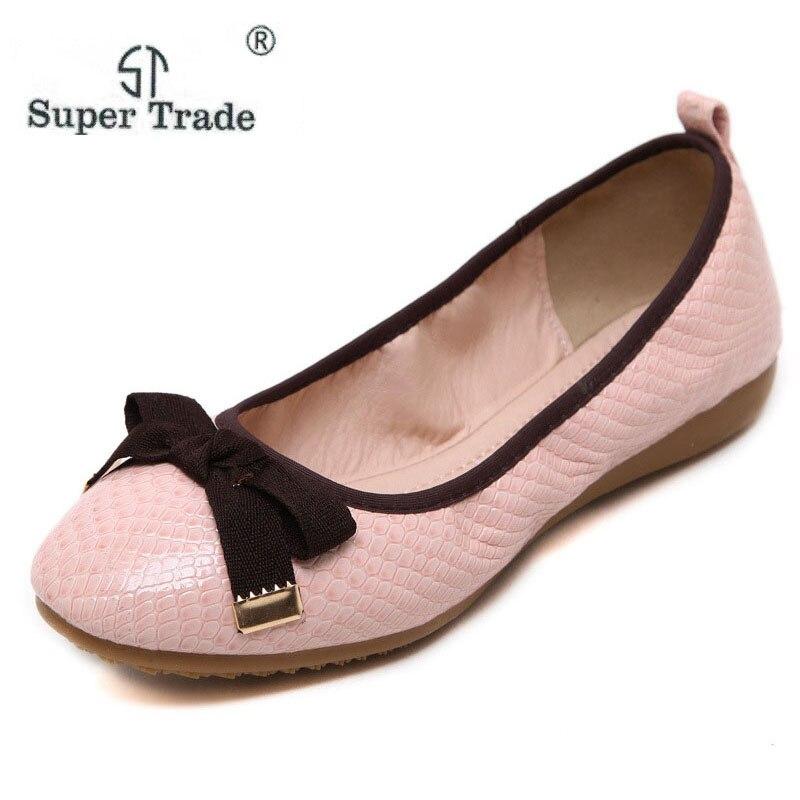 где купить  ST SUPER TRDE Flat Shoes Woman Casual Nurse Work Shoes New South Korean Style Shoes Bow Comfortable Flat Shoes Size35-40 ST39-3  по лучшей цене