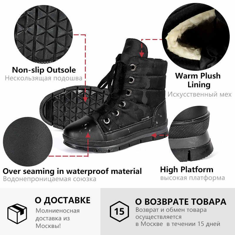 GOGC bayan botları Kış sıcak yarım çizmeler Kadınlar için Platform Siyah Su Geçirmez Kış Ayakkabı Kadınlar Düz Topuk Çizmeler Kadın G9803