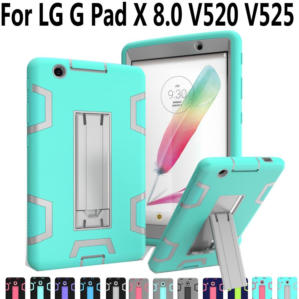 Hot Sale Kid Shockproof Case For Lg G Pad 3 80 Cover Colorful 8 V490 Geometric Kickstand Silicone X V525 V520 V521