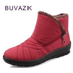 2018 hiver cheville neige bottes femmes étanche anti-dérapage plus chaud coton chaussures grand grand taille yard 41 42