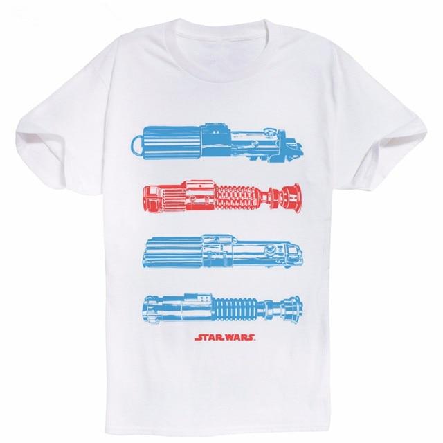 fccdb34c7 Algodão Projeto Fresco Camisetas Projeto Momento De Sabre de Luz dos homens  Novos Penteados Impressão Digital