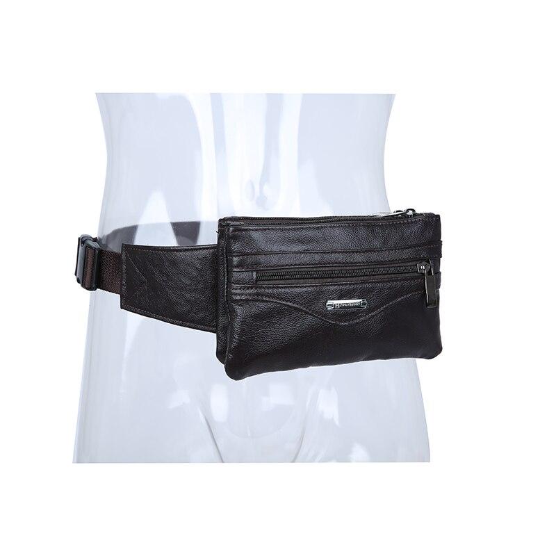 Casual Business Cow Äkta Läder Män Midja Pack Crossbody Bag Mode - Bälten väskor - Foto 6