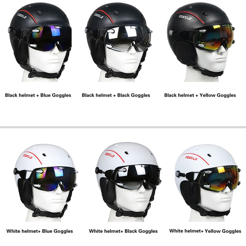 DISCOUNT SALE Costelo Airwolf Skateboard Ski Snowboard Helmet ski goggles Integrally-molded Ultralight Breathable