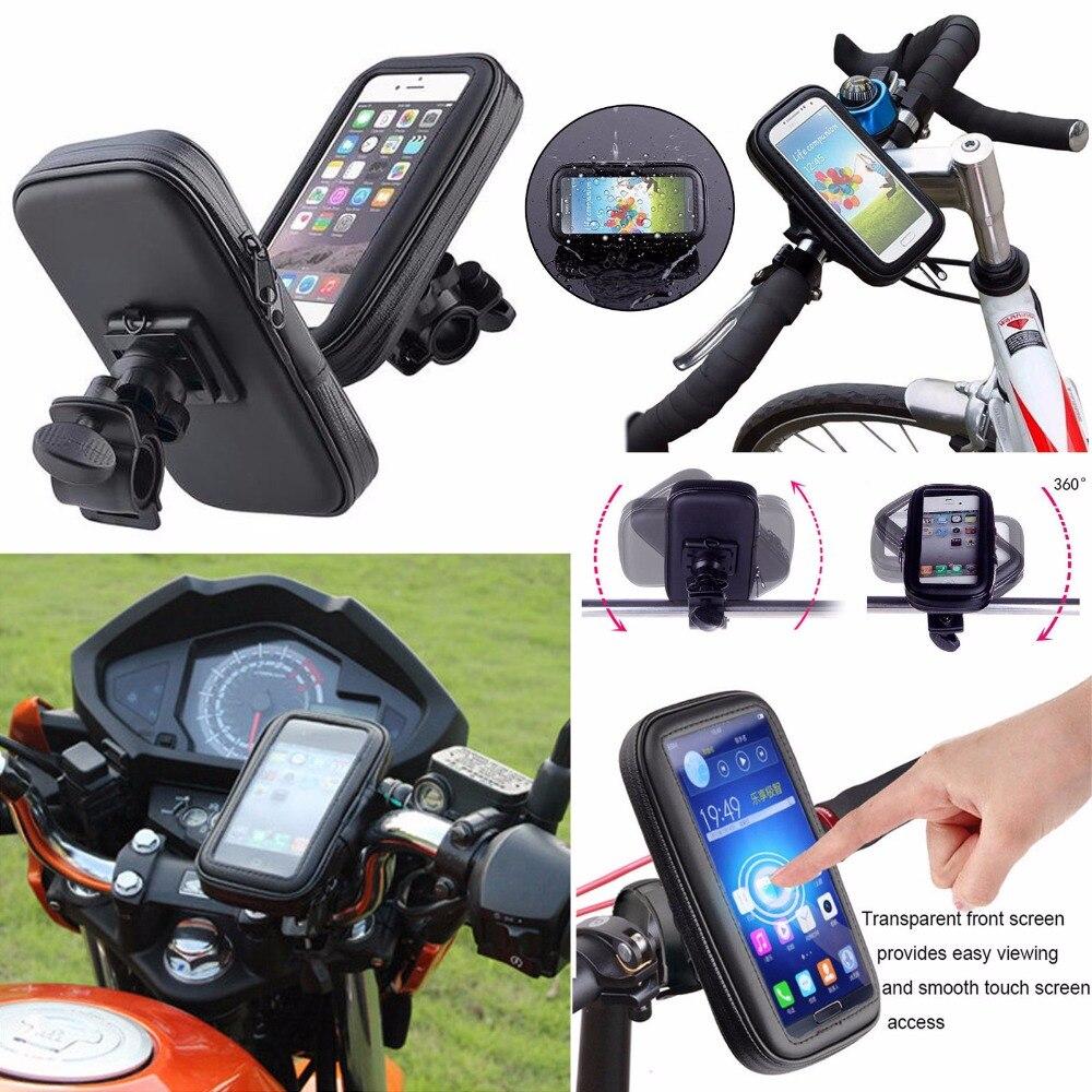 360 degreens impermeable y bicicleta moto de la motocicleta manillar titular cub