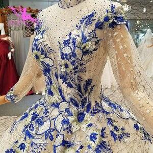 Image 4 - AIJINGYU Wedding Dressesing Gowns Luxury Dresses White Ball Pakistani Buy In Dubai Rhinestone Gown Korean Dress Wedding