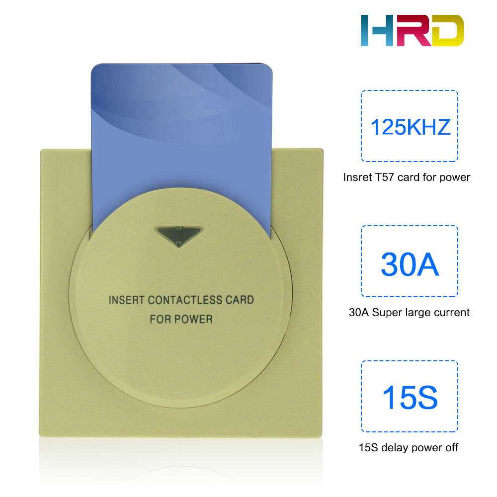 Security & Protection Access Control 2019 Latest Design Gold Hotel Motel Rent House Suites Inn Lodge Restaurant Ginshop Energy Saving Insert Rfid Card For Power 13.56mhz Card Switch