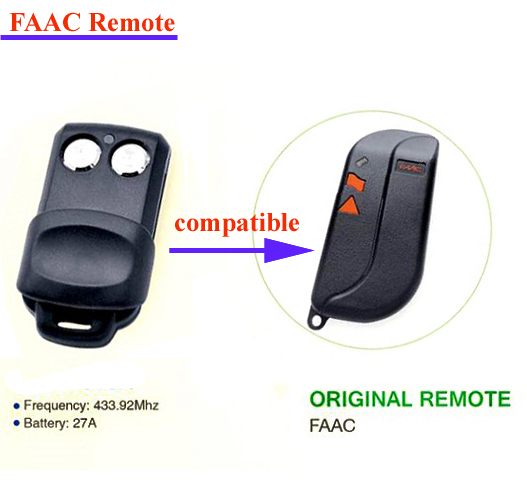 Replace Remote Key For Faac 2buttons Replacement Faac Garage Door