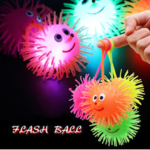 Mixed Soft Squeeze And Bouncing Balls For Children Outdoor Toys Luminous Ball Games Elastic Jumping Antistress Vent Toy