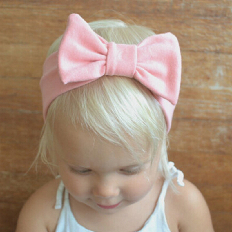 1PCS Hair Bows  Newborn  Flower Headband Stretch Turban Bowknot Head Wrap Hair Bands Children Headwear Hair Accessories