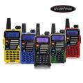 Baofeng УФ-5R + Плюс Pofung УФ-5R Рация Dual Band Двухстороннее Радио + 5 Вт 128CH UHF VHF FM VOX Двойной Дисплей Qualette