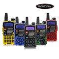 Baofeng UV-5R + Mais Walkie Talkie Pofung UV-5R Dual Band Rádio em Dois Sentidos + 5 W 128CH VHF FM VOX Dual Display Qualette