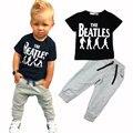 Розничная новый летний стиль мода мальчики комплект одежды спортивный костюм дети мальчик одежды