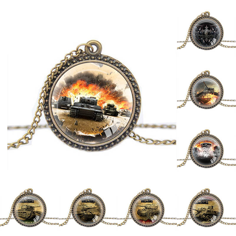 2015 Fashion Online Game World of Tanks WOT Pendant For Mens Pendant Necklace Gifts boys jewelry personalized gifts