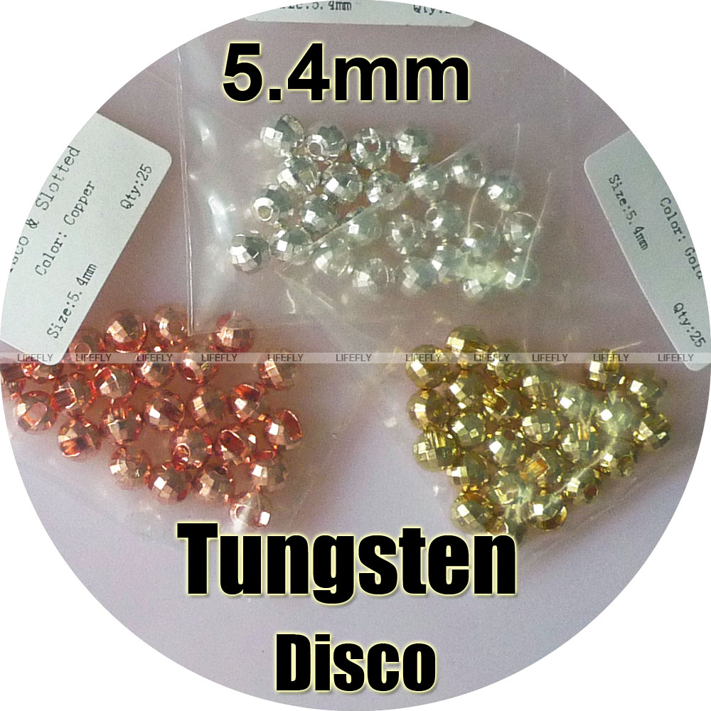 100 Tungsten Slotted Disco Beads