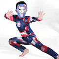 2017 Christmas costumes kids for kids boys coton muscle iron man costume kids halloween Cosplay Carnival costumes for children