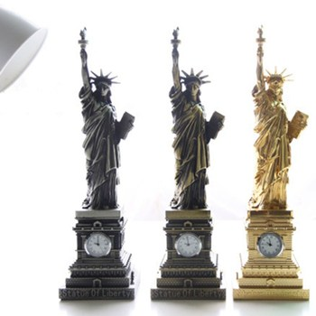 25CM USA Landmarks Statue of Liberty Metal Model Desk Decoration Gadget Gift Craft Liberty Enlightening The World Statue L1694