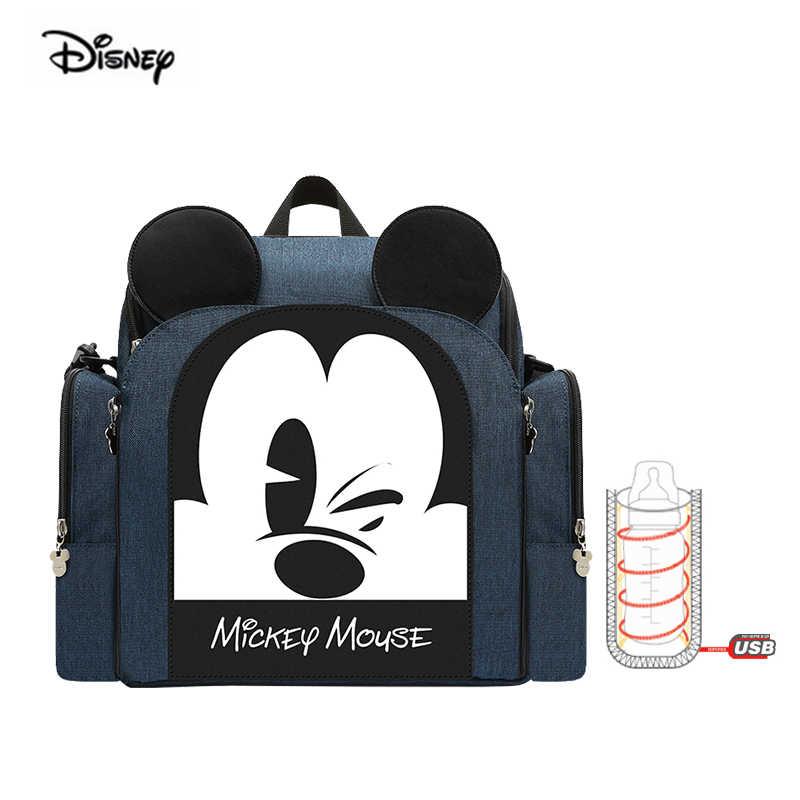 Disney bébé à manger chaise sac multifonctionnel sac à couches Portable siège de sécurité étanche mère sac à main Nappy sac à dos pour voyage