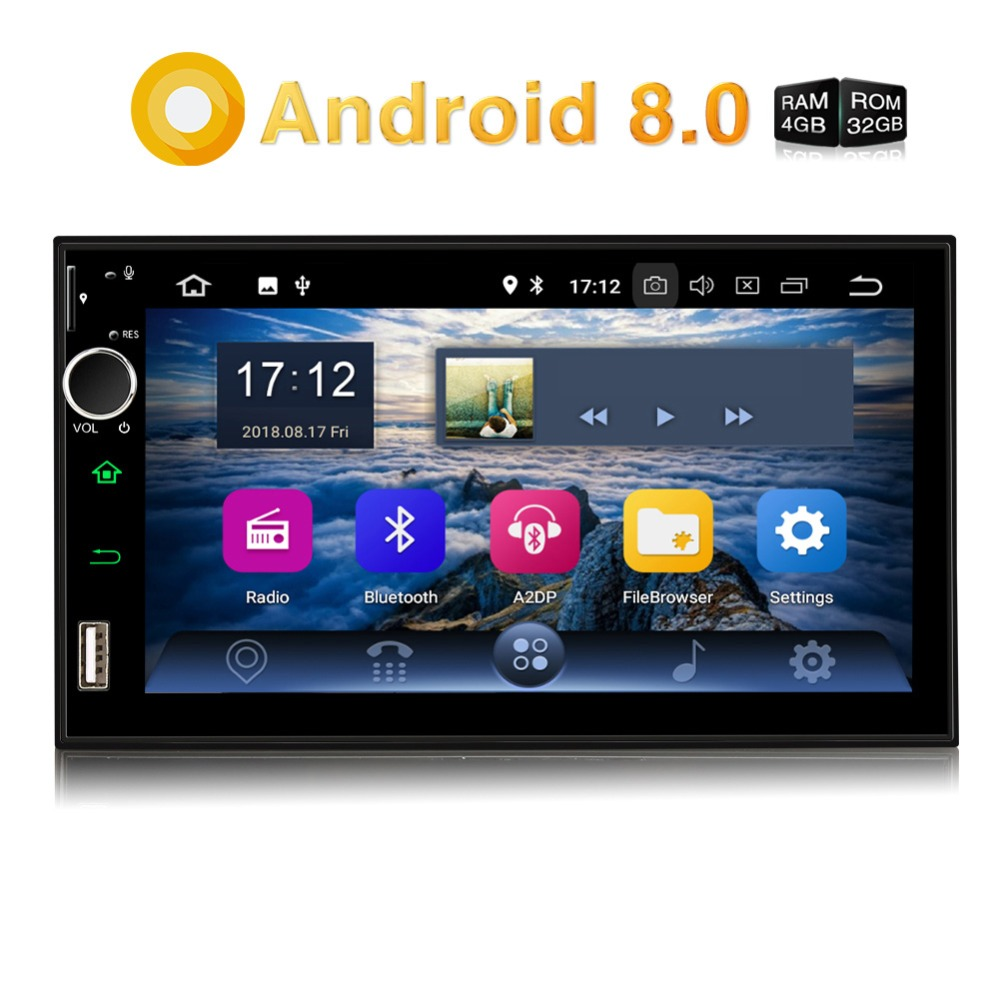 Pumpkin 2 Din 7'' Android 8.0 Universal Car Radio No DVD Player GPS Navigation 4GB RAM Car Stereo Fast Boot Wifi 4G Headunit android 8 0 2 din 7 universal car radio no dvd player gps navigation 4gb ram car stereo fm rds wifi 4g dab headunit