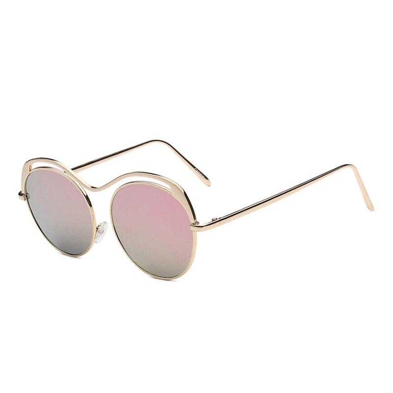 Maskros Unique Round Rimless Sunglasses Women Rose Gold ...