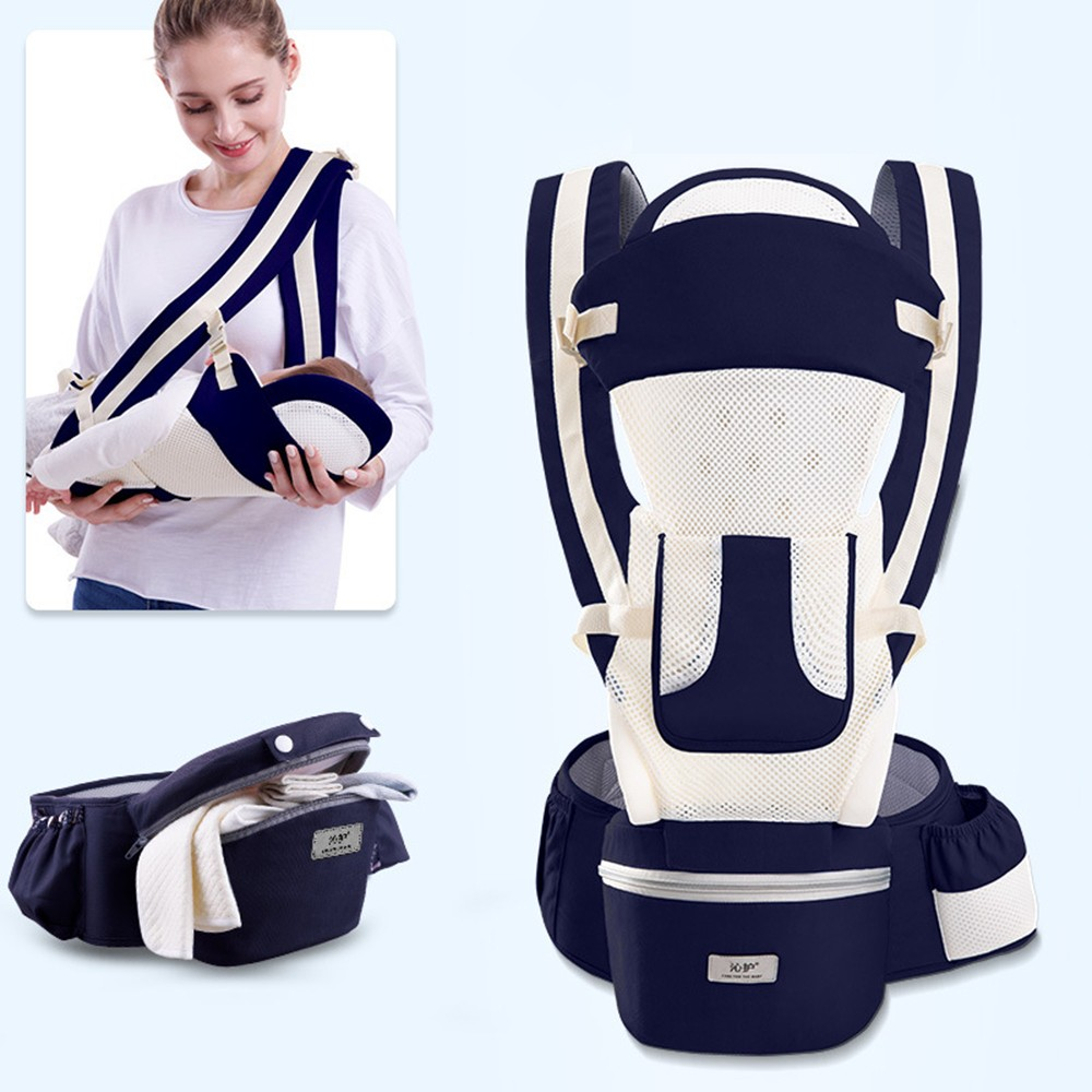 0-48M Ergonomic Baby Carrier Infant Baby Hipseat Carrier Front Facing Baby Wrap Sling For Travel 26