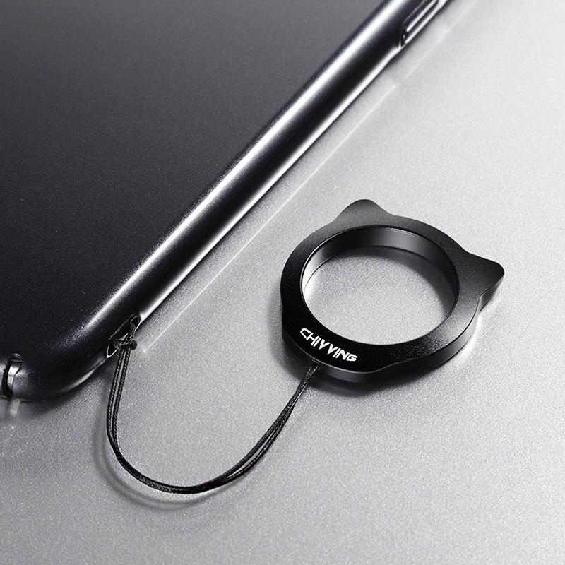 Super light metal Finger Ring for girls cute cartoon cat shape finger ring straps for smartphone