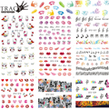 Tracy Simple Nail 1X Fashionable Nail Designs Lips Finger FlowerNail Art DIY Creative Water Transfer Decals Sticker STZ311-330