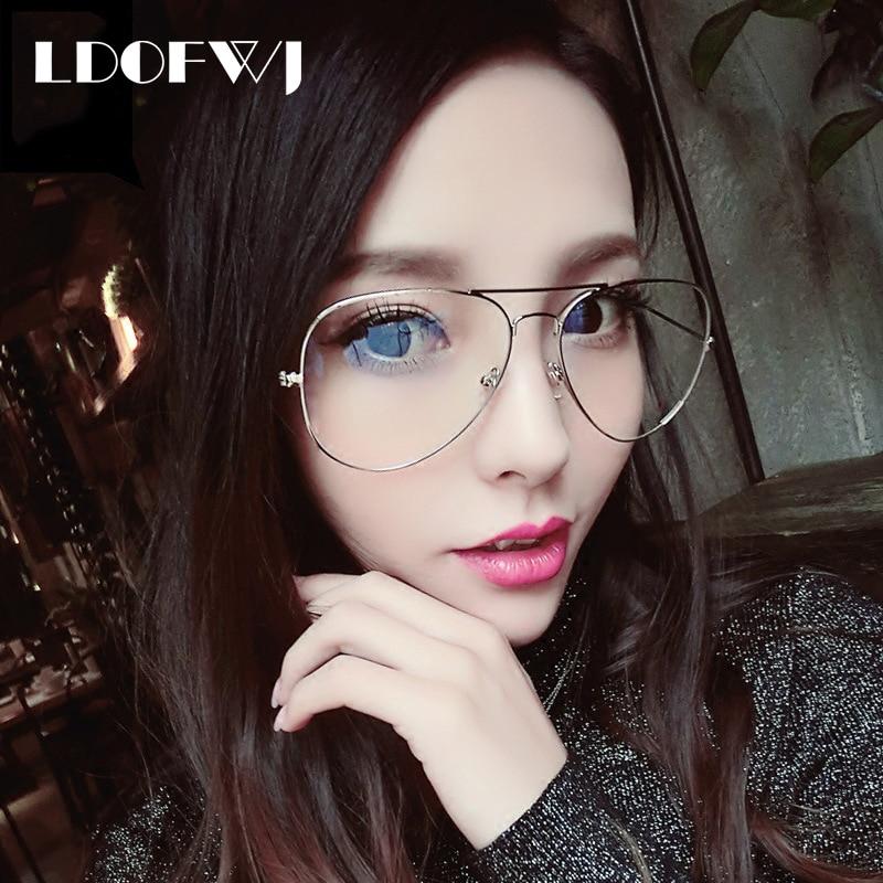 LDOFWJ Eyeglasses Frames Women Classic Optical Eyeglasses Big Frame ...