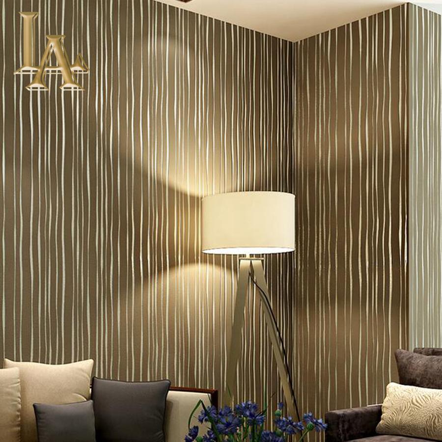 Comparer les prix sur beige striped wallpaper   online shopping ...
