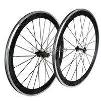2015 Hot venta de ruedas de carbono 60 mm aleación de frenado en superficie remachador rueda de bicicleta de carretera