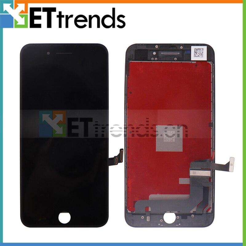 5 pçs/lote 8 Além de Tela LCD de Alta Qualidade para o iphone tela LCD touch Screen Digitador Assembléia Vidro com Moldura de DHL frete Grátis