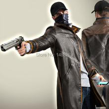 Watch Dogs Cosplay Costume PU Leather Jacket Outfit Aiden Pe