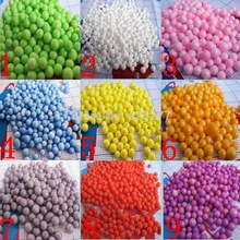 5000pcs/lot Free shipping to choose any five colors 5mm-9mm mixed foam ball decorative DIY 012002002