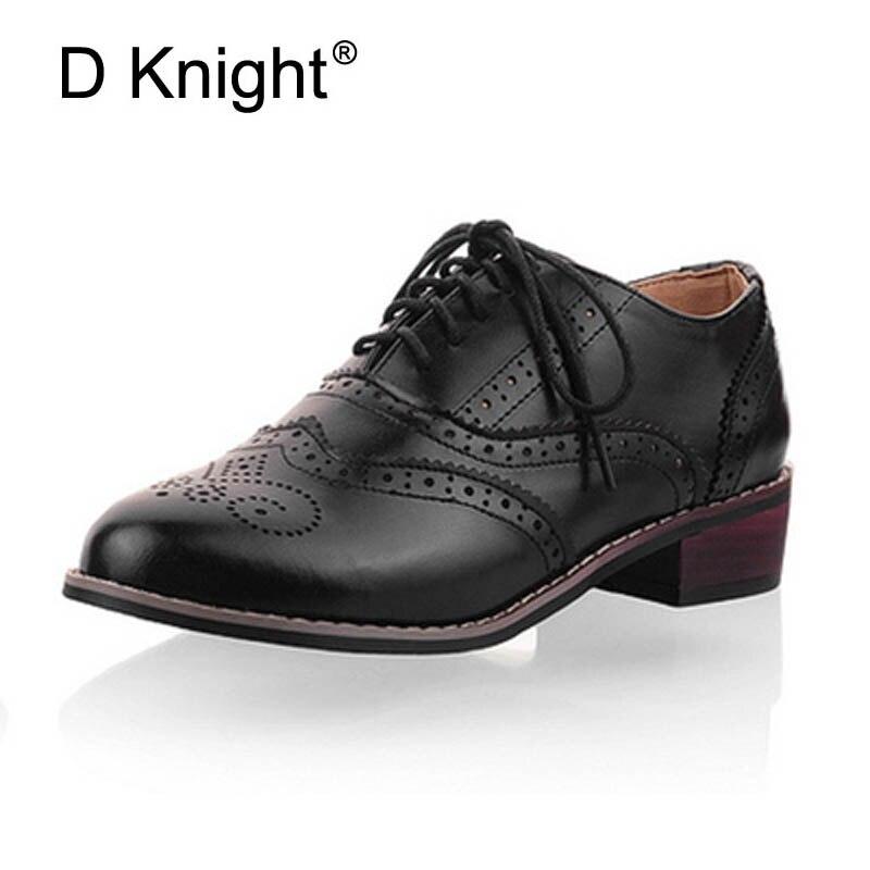 Ladies Split Toe Leather Flats Oxfords Womens Black Shoes Pumps Lace Ups Hot