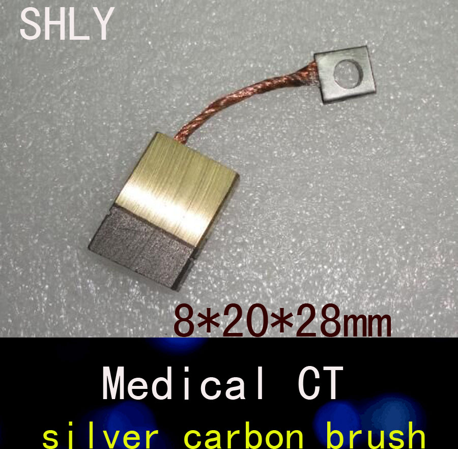 8*20*28MM CT machine 90% silver carbon brushes motor carbon brush signal carbon brush zota carbon 20