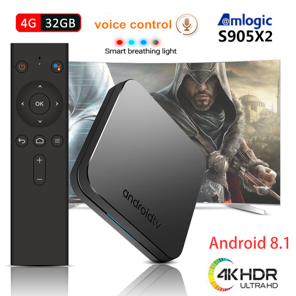 MECOOL KM9 Android 9 0 Smart TV Box 4GB RAM 32GB ROM with Voice Search Remote