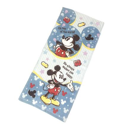 Cartoon Alien Mouse Printed Towel Gifts Baby Handkerchief Children Travel Cotton Towels 34x80CM Nursing Toweling hanky