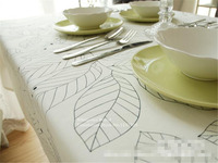 NiceRug blanc feuilles noir feuilles table d'impression tissu pour partie de pique-nique hôtel accueil deoration rectangulaire secret jardin nappe