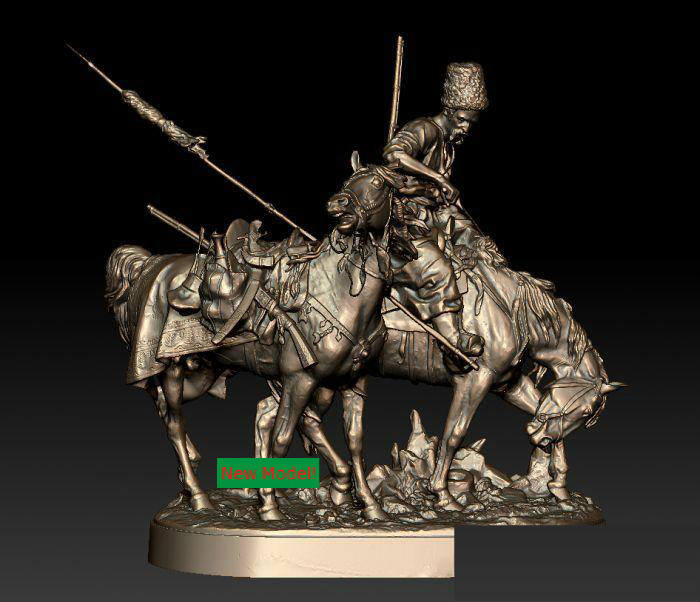 3D Model Stl Format, 3D Solid Model Rotation Sculpture For Cnc Machine Kozak,Kozac
