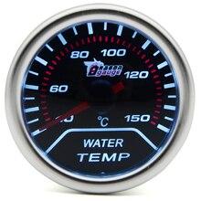 """"""" 52 мм Универсальный Автомобильный датчик температуры воды 40-150 C метр Авто белый светодиодный"""