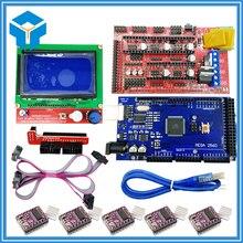 3D-принтеры комплект 1 шт. MEGA 2560 R3 + 1 шт. ПЛАТФОРМЫ 1.4 контроллер + 5 шт. DRV8825 Шаговый двигатель drive + 1 шт. ЖК-дисплей 12864 контроллер