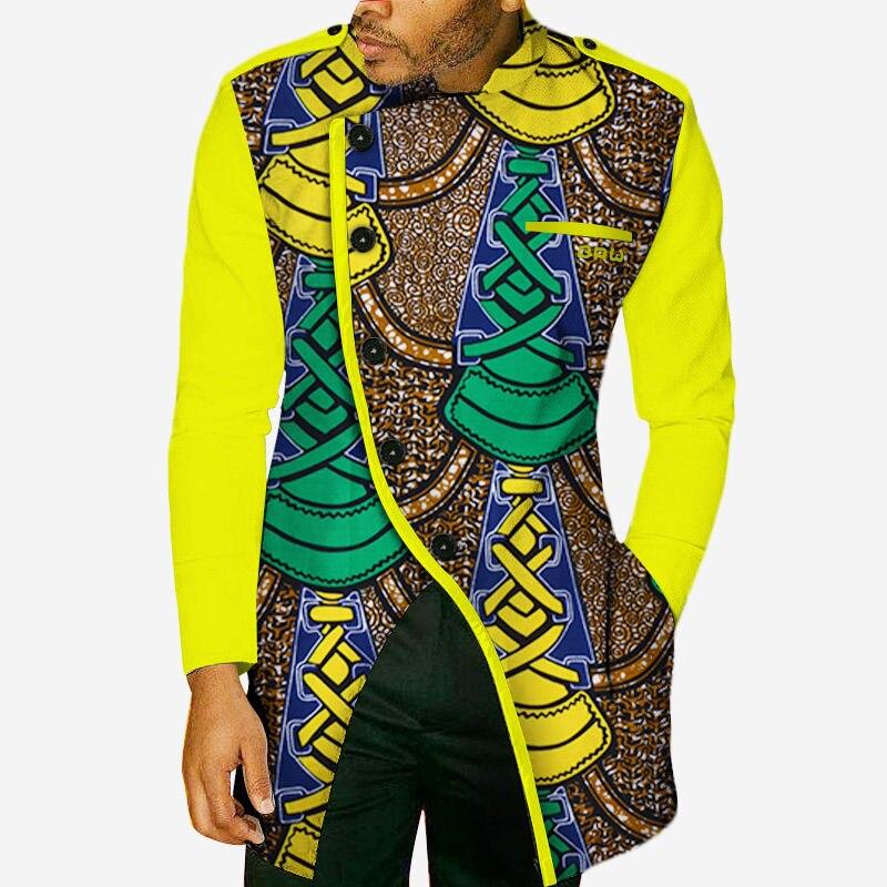 Vêtements africains pour hommes Bazin Rich chemise à manches longues hommes personnalisé vêtements africains décontracté africain Dashiki hommes imprimer vêtements