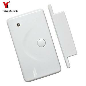 YobangSecurity Wireless Door Gap Window Sensor Magnetic Contact 433MHz door detector for home security alarm system 433mhz 5pcs wireless door window contact gap sensor detector 5pcs wireless vibration break breakage glass sensor detector