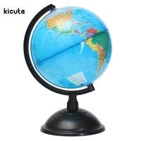 New 20cm Plastic Montessori Mini Tellurion Blue Ocean World Globe Map With Swivel Stand Geography Educational